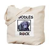 BLACK DOODLES ROCK / DDL BASKET Tote Bag