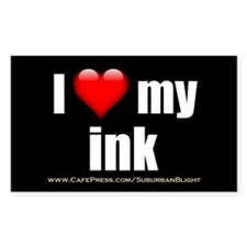"""Love My Ink"" Decal"