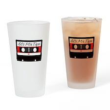 80s Music Mix Tape Cassette Drinking Glass