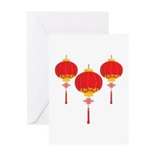 Chinese New Year Lanterns Greeting Cards
