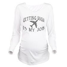 Airline Pilot Long Sleeve Maternity T-Shirt