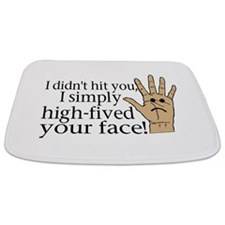 High Fived Face Bathmat