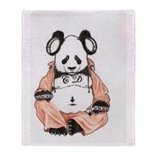 Buddha Bear Throw Blanket