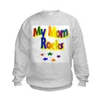 My Mom Rocks Kids Sweatshirt