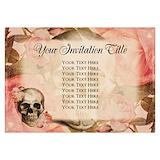 Vintage invitations 3.5 x 5 Flat Cards