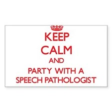 Keep Calm and Party With a Speech Pathologist Stic