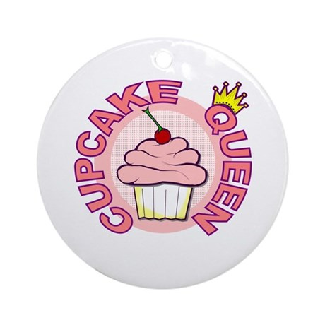 Cupcake Queen Ornament (Round)
