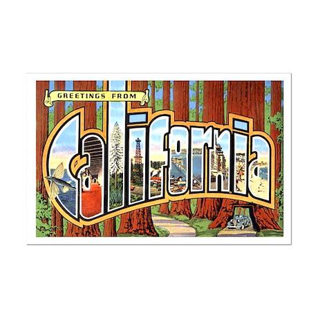California Greetings Mini Poster Print