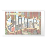 California Greetings Rectangle Decal