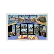 New Jersey Greetings Rectangle Magnet (10 pack)