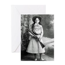Vintage Photo of Annie Oakley Greeting Card