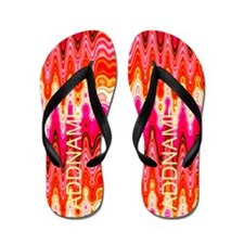 Orange Shimmer Flip Flops