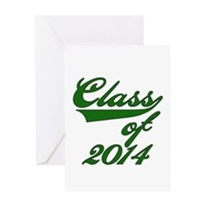 Green Class of 2014 Greeting Card