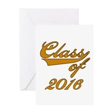Gold Class of 2014 Greeting Card
