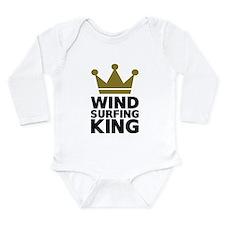 Windsurfing King Long Sleeve Infant Bodysuit