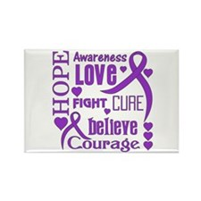 Crohns Disease Hope Wo Rectangle Magnet (100 pack)