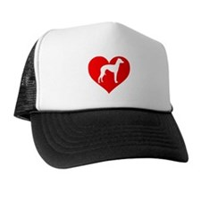Love Heart Italian Greyhound Trucker Hat