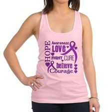 Epilepsy Hope Words Racerback Tank Top