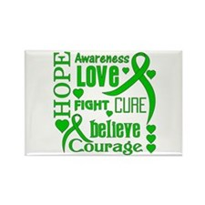 Glaucoma Hope Words Rectangle Magnet (10 pack)