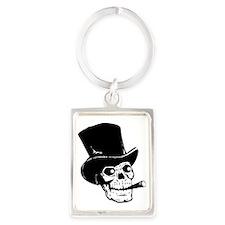 Black Skull Portrait Keychain