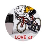 Love at First Bike T-shirt.png Ornament (Round)