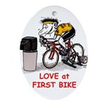 Love at First Bike T-shirt.png Ornament (Oval)