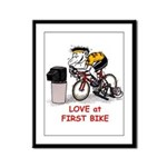 Love at First Bike T-shirt.png Framed Panel Print