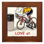 Love at First Bike T-shirt.png Framed Tile