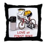 Love at First Bike T-shirt.png Throw Pillow