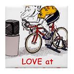 Love at First Bike T-shirt.png Tile Coaster
