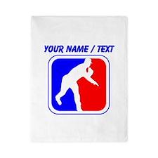 Custom Baseball League Logo Twin Duvet