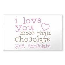 Love Chocolate Decal