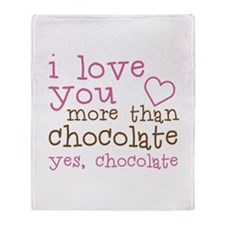 Love Chocolate Throw Blanket