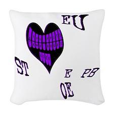 Heart steno Woven Throw Pillow