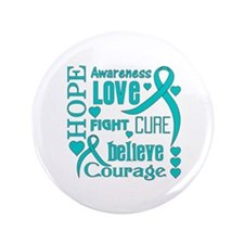 """PCOS Hope Words 3.5"""" Button"""