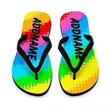 Rainbow Shimmer Flip Flops