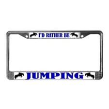 Cute Horse jumping License Plate Frame