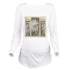 mermaids Long Sleeve Maternity T-Shirt