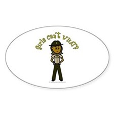 Dark Brown Sheriff Oval Decal