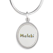 Malaki Giraffe Silver Oval Necklace