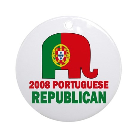 Portuguese Family Ornament (Round)