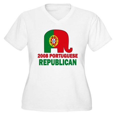 Portuguese Family Women's Plus Size V-Neck T-Shirt