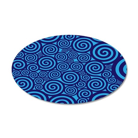 Blue Swirls Wall Decal