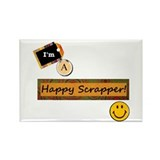 Happy Scrapper Rectangle Magnet (10 pack)