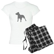 pitbull gray 1 Pajamas