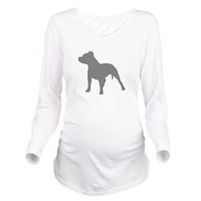 pitbull gray 1 Long Sleeve Maternity T-Shirt