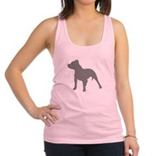 pitbull gray 1 Racerback Tank Top