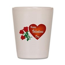 Heart and Roses Shot Glass