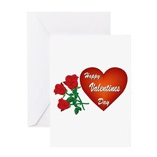 Heart and Roses Greeting Card