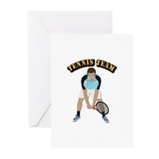 Tennis Team Greeting Cards (Pk of 20)